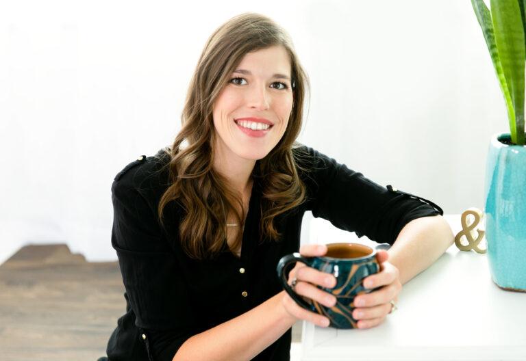 Michelle Vande Hey - holding tea cup